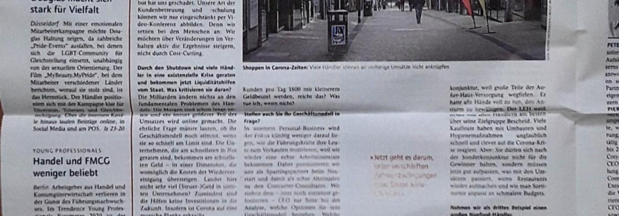 Dr. Thorsten Bosch im Interview in der Lebensmittelzeitung